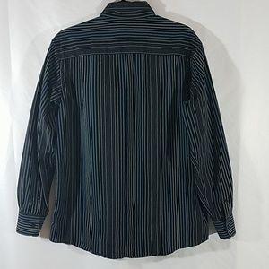 Claiborne Shirts - Claiborne Black Striped Button Down Dress Shirt